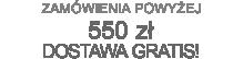 Darmowa dostawa dla zamówień od 550 zł brutto
