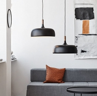 ACORN - pendant Lamp Black
