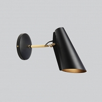 BIRDY - kinkiet S arm Black Brass