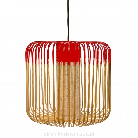 Bamboo suspension M Lamp Red