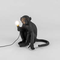 Monkey Lamp Black - siting