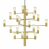 Manola chandelier brass 20