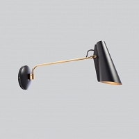 BIRDY - kinkiet  L arm Black Brass