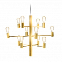 Manola chandelier Golden glossy 12