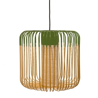 Bamboo suspension M Lamp Green