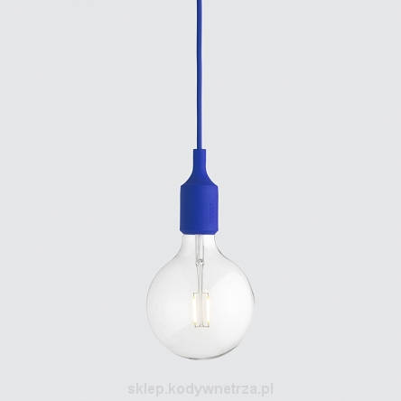 Lampa E27 blue LED